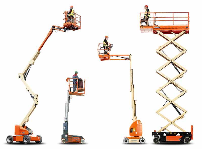 kolaz raznih dvigal JLG - Unisel